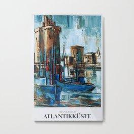 Atlantikk�ste Vintage Travel Poster Metal Print