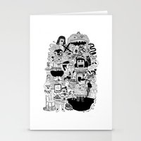 doom Stationery Cards featuring KIDS DOOM by WASTED RITA