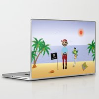 pirate Laptop & iPad Skins featuring Pirate by MyimagesArt