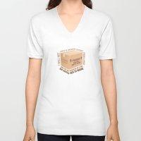 regina mills V-neck T-shirts featuring Regina Sassy Mills | Childcare Lectures by CLM Design