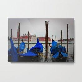 Venice Gondala Metal Print