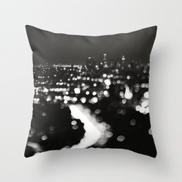Los Angeles cityscape. L.A. Noir Throw Pillow
