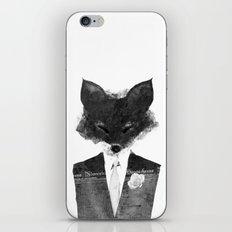 minima - dapper fox | noir iPhone & iPod Skin