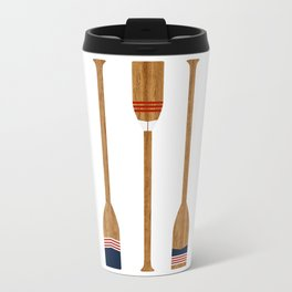 American Painted Oars Metal Travel Mug