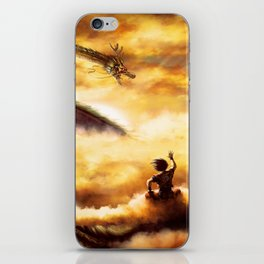 a ride with shenron iPhone Skin