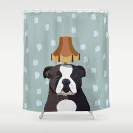 Human humor sucks. Seriously. Shower Curtain