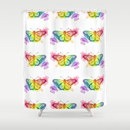 Butterfly Rainbows Shower Curtain