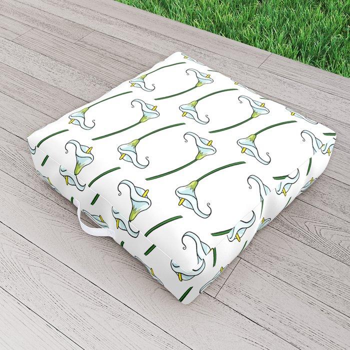Lilies pattern Outdoor Floor Cushion