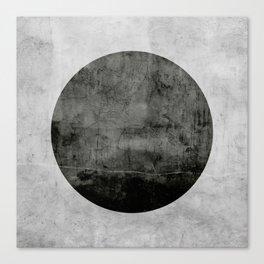 Concrete with black circle Canvas Print