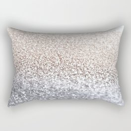 SILVER GLITTER Rectangular Pillow