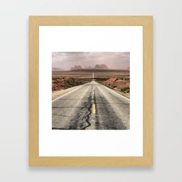 Road to Monument Valley Framed Art Print