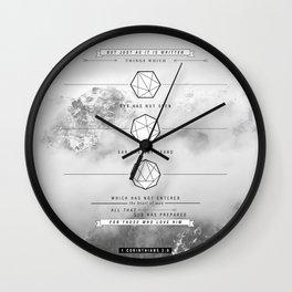 1 corinthians 2:9 Wall Clock