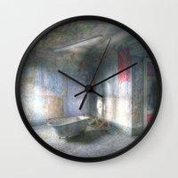 bathroom Wall Clocks featuring My new bathroom by Anne Seltmann