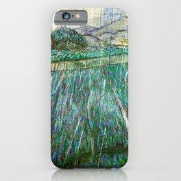 Vincent van Gogh - Wheat Field In Rain - Digital Remastered Edition iPhone Case
