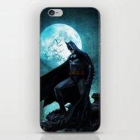 bat man iPhone & iPod Skins featuring BAT man by Electra