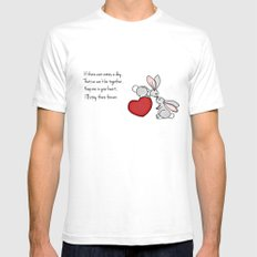 Snuggle Bunnies Mens Fitted Tee White SMALL