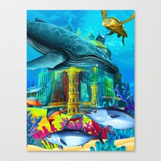 Temple of Whale Canvas Print