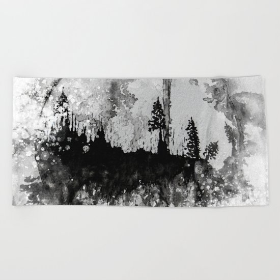 INTO THE FOREST I GO Beach Towel