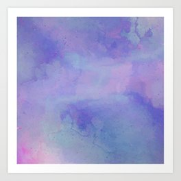Watercolour Galaxy - Purple Speckled Sky Art Print