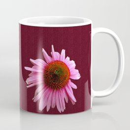 Echinacea on Canvas Texture Coffee Mug