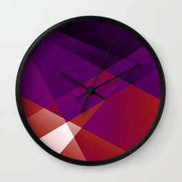 Apothisexual Pride Layered Translucent Angles Wall Clock