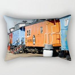 Railroad Cars Rectangular Pillow