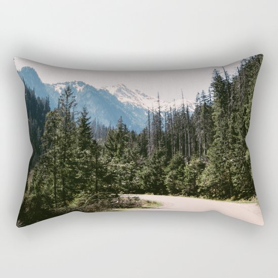Mountain Landscape with Road Rectangular Pillow