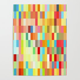 colorful rectangle grid Poster