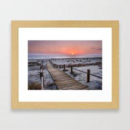 """To the beach...""Cabo de Gata"". Framed Art Print"