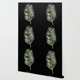 PALM ARECA - BLACK BACKGROUND Wallpaper