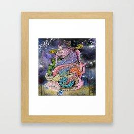 Interstellar seahorse Framed Art Print
