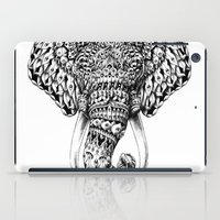 ornate elephant iPad Cases featuring Ornate Elephant Head by BIOWORKZ