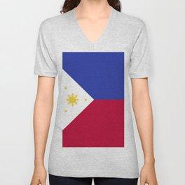 Philippines flag emblem Unisex V-Neck