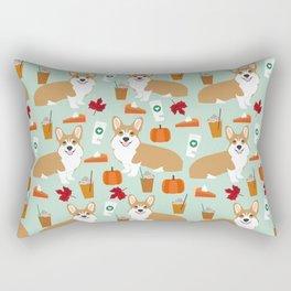 Corgi - Pumpkin Spice, psl, coffee, latte, pumpkin pie,  fall, autumn, holiday, Rectangular Pillow