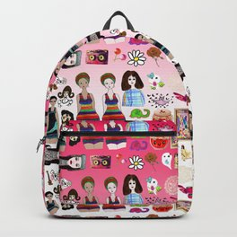 kawaii collage pink ombre Backpack