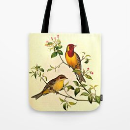 Red-Headed Bunting Tote Bag