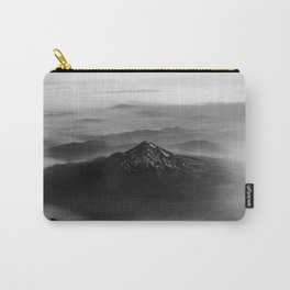 The West is Burning - Mt Shasta Black and White Carry-All Pouch