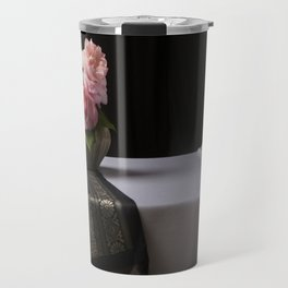 Roses and silk still life Travel Mug