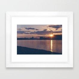 Greenwich Sunset (1) Framed Art Print