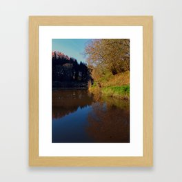 Romantic evening at the pond | waterscape photography Framed Art Print