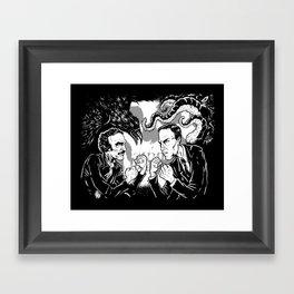 Poe vs. Lovecraft Framed Art Print