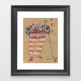 MUSIC MONSTER Framed Art Print