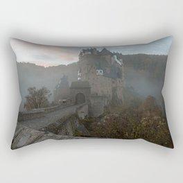 Morning light at Castle Eltz Germany Rectangular Pillow