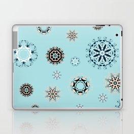 Blue Mandala, Pattern, Digital Design, Shapes Laptop & iPad Skin