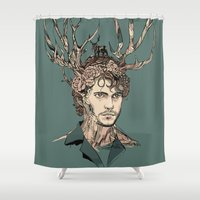 will graham Shower Curtains featuring I Believe You by Huebucket