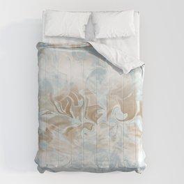 Watercolour Blue Gray Comforters