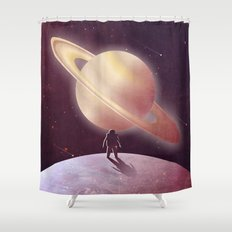 A View From Enceladus Shower Curtain