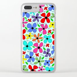 Flower Design 3 Clear iPhone Case