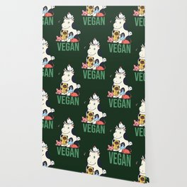 Pug and Friends Vegan Wallpaper