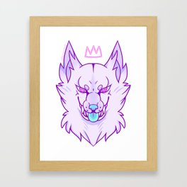 THE WOLF QUEEN Framed Art Print